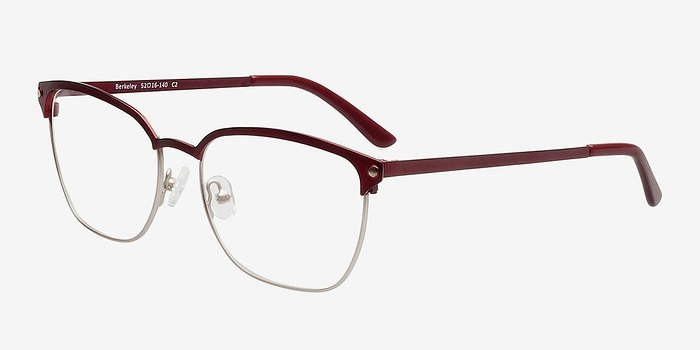 Eyeglass Frames Berkeley Ca : Berkeley Burgundy Women Metal Eyeglasses EyeBuyDirect