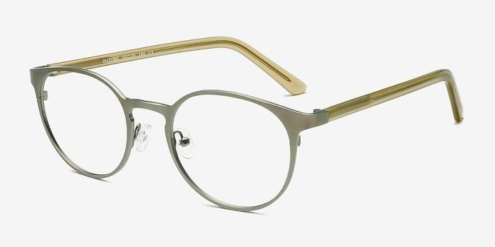 Glasses Frame Outline : Outline Matte Steel/Acetate Metal Eyeglasses EyeBuyDirect
