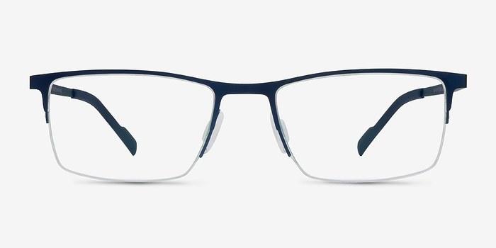 SAK351 Blue Metal Eyeglasses EyeBuyDirect