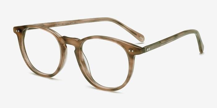 prism chestnut acetate eyeglasses eyebuydirect