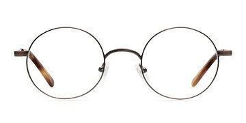 Brown Socrates -  Fashion Metal Eyeglasses