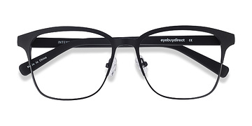Matte Black Intense -  Fashion Metal Eyeglasses