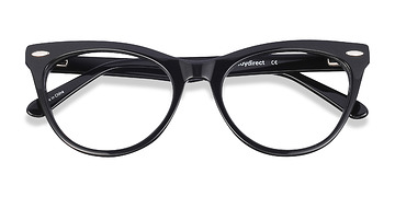 Black Anika -  Classic Acetate Eyeglasses