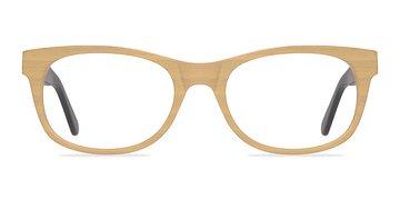 Yellow Panama -  Fashion Wood Texture Eyeglasses