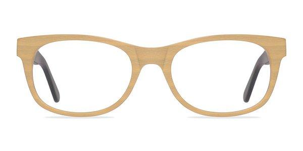 Panama Yellow Wood Texture Eyeglasses Eyebuydirect