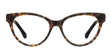 Brown/Tortoise Jane Birkin -  Fashion Wood Texture Eyeglasses