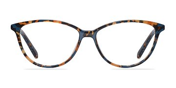 Blue/Floral Coco -  Classic Acetate Eyeglasses