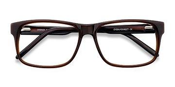 Brown Sydney -  Classic Acetate Eyeglasses