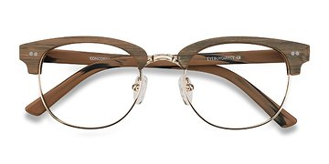 Brown/Golden Concorde -  Fashion Wood Texture Eyeglasses