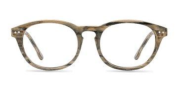 Brown Little Things -  Fashion Wood Texture Eyeglasses