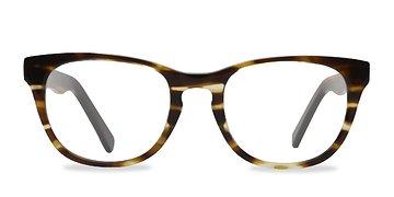 Brown Striped Confidence -  Fashion Acetate Eyeglasses