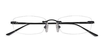 Black Clem -  Lightweight Metal Eyeglasses