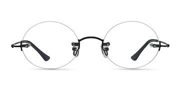 Black Silver Line -  Metal Eyeglasses