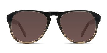 Brown Striped Phased -  Sunglasses