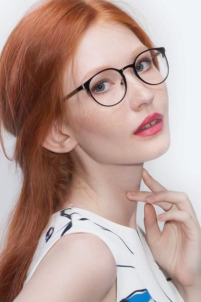 Outline Black Steel/Acetate Metal Eyeglasses EyeBuyDirect