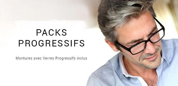 Progressive Lens Package - Frames with progressive lenses included. Starting at $99