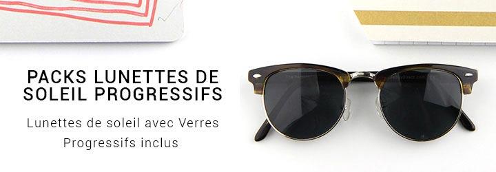 Sunglasses with Progressive lenses included.