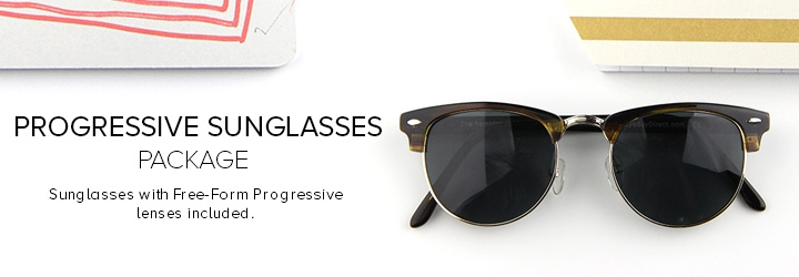 Sunglasses with Free-Form lenses included.