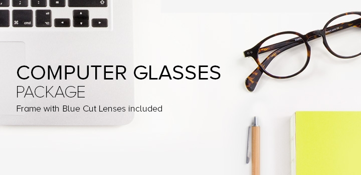 Frames with Blue Cut Lenses included. Starting at $21
