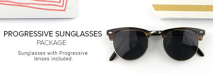 Sunglasses with Progressive lenses included.