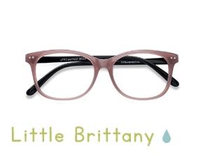 Pink Black Little Brittany -  Coloré Plastique Lunettes de Vue