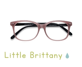 Pink Black Little Brittany -  Colorful Plastic Eyeglasses