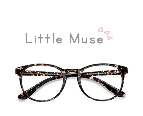 Floral Little Muse -  Colorful Plastic Eyeglasses