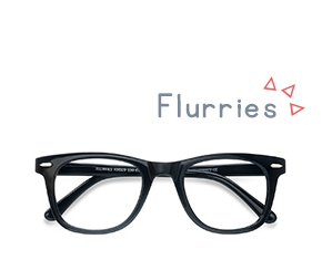 Noir Flurries -  Plastique Lunettes de Vue