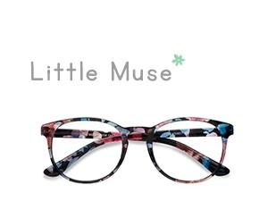 Blue Floral Little Muse -  Colorful Plastic Eyeglasses