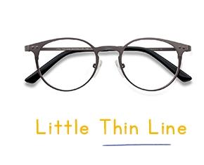 Gunmetal Little Thin Line -  Tendance Métal Lunettes de Vue