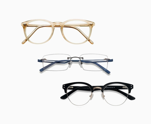 Three different types of frames