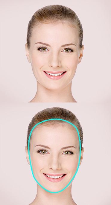 Women's oval face shape
