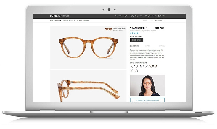 How to buy prescription eyeglasses online – step 1 – pick your frames