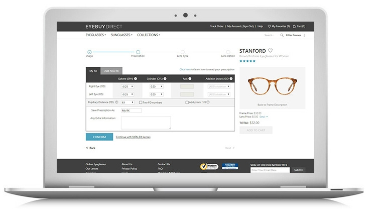 How to buy prescription eyeglasses online – step 1 – enter your prescription