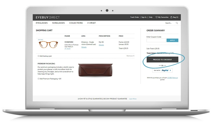 How to buy prescription eyeglasses online – step 1 – enter your payment & enjoy!