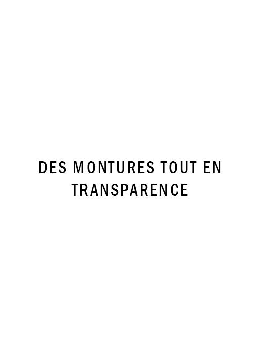 Des montures tout en transparence