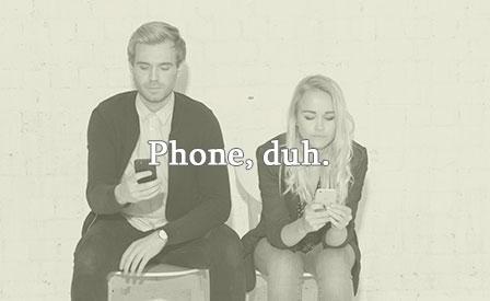 Millenials on phones