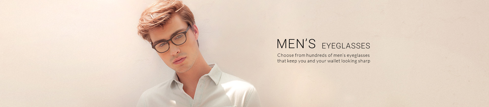 Choose from hundreds of men's eyeglasses that keep you and your wallet looking sharp