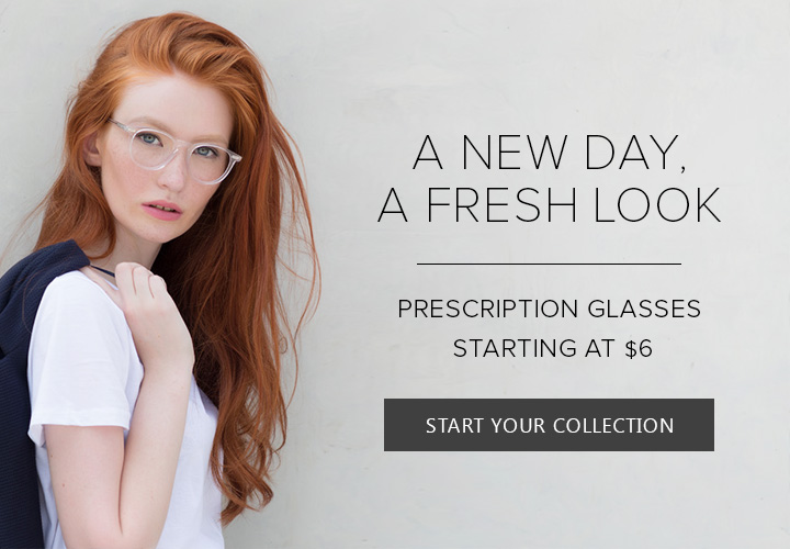 Prescription glasses starting at $6