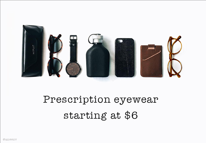 Your essentials - prescription eyewear starting at $6