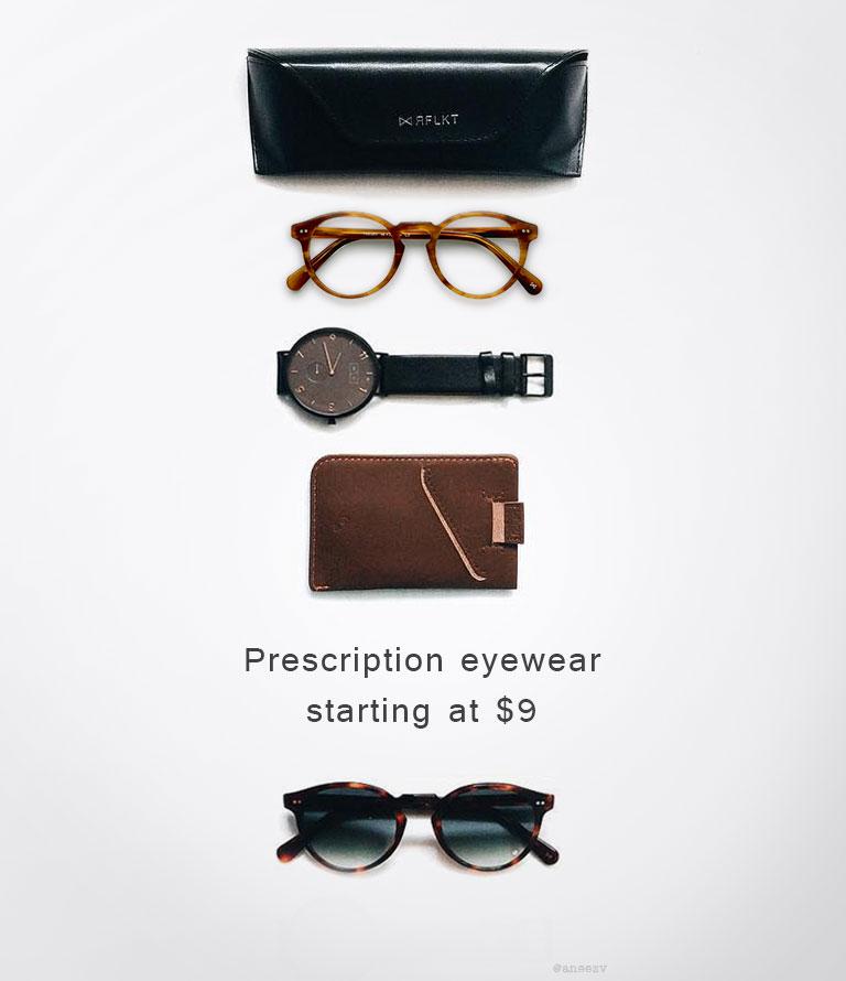 Prescription eyewear Starting at 9