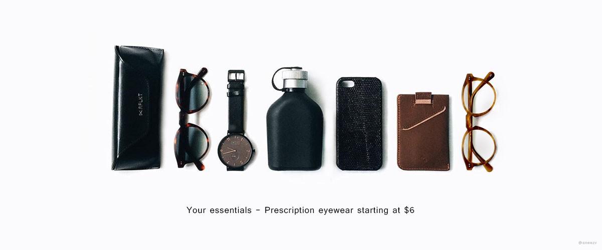 Your essentials - Prescription eyewear starting a t6