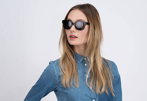 Cat eye and Horn-Rimmed Sunglasses Online Secondary