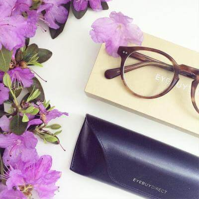 EyeBuyDirect eyeglasses theory cognac
