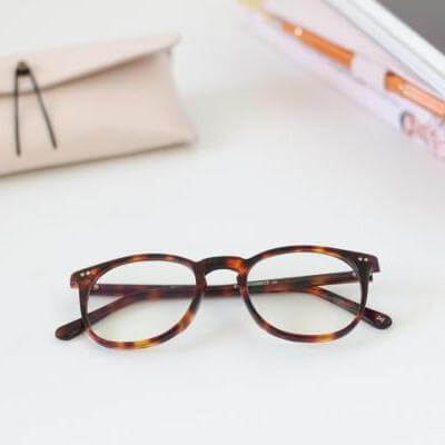 EyeBuyDirect eyeglasses warm tortoise