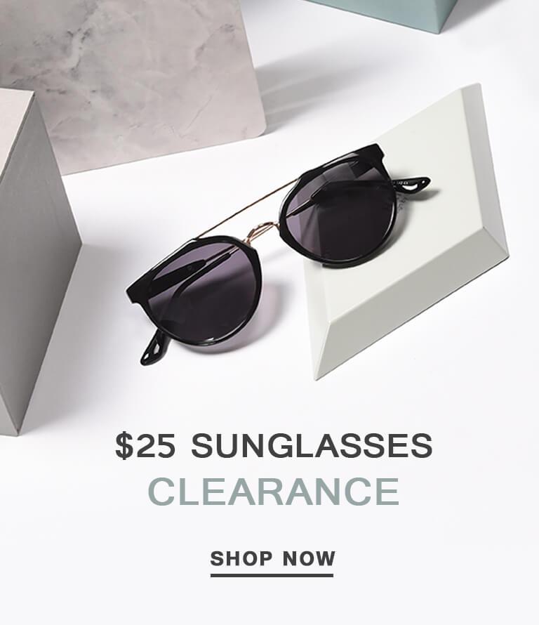 $25 sunglasses clearance
