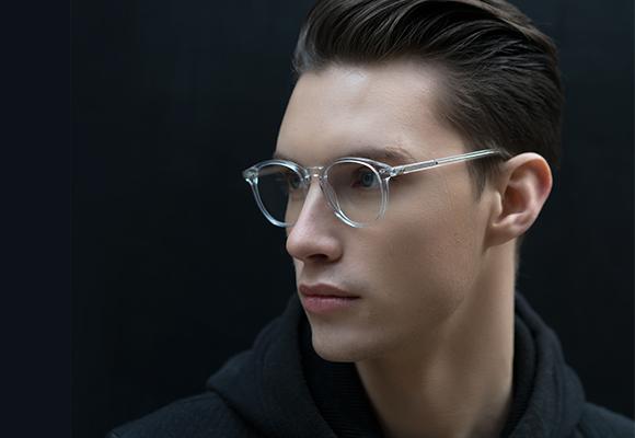 Clear Eyeglasses translucent man EyeBuydirect