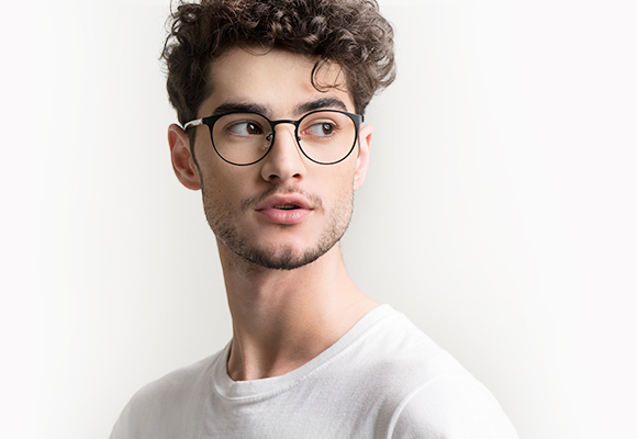 black eyeglasses man EyeBuyDirect