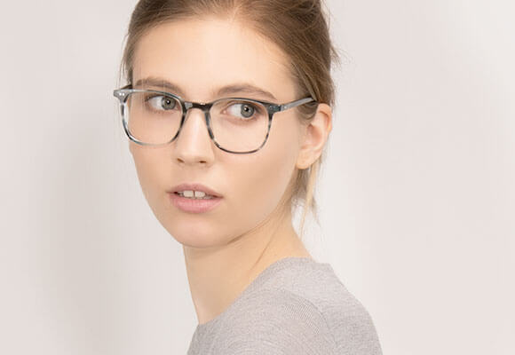 Blue eyeglasses EyeBuyDirect