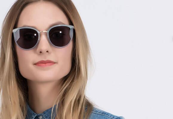 Blue Sunglasses woman EyeBuyDirect